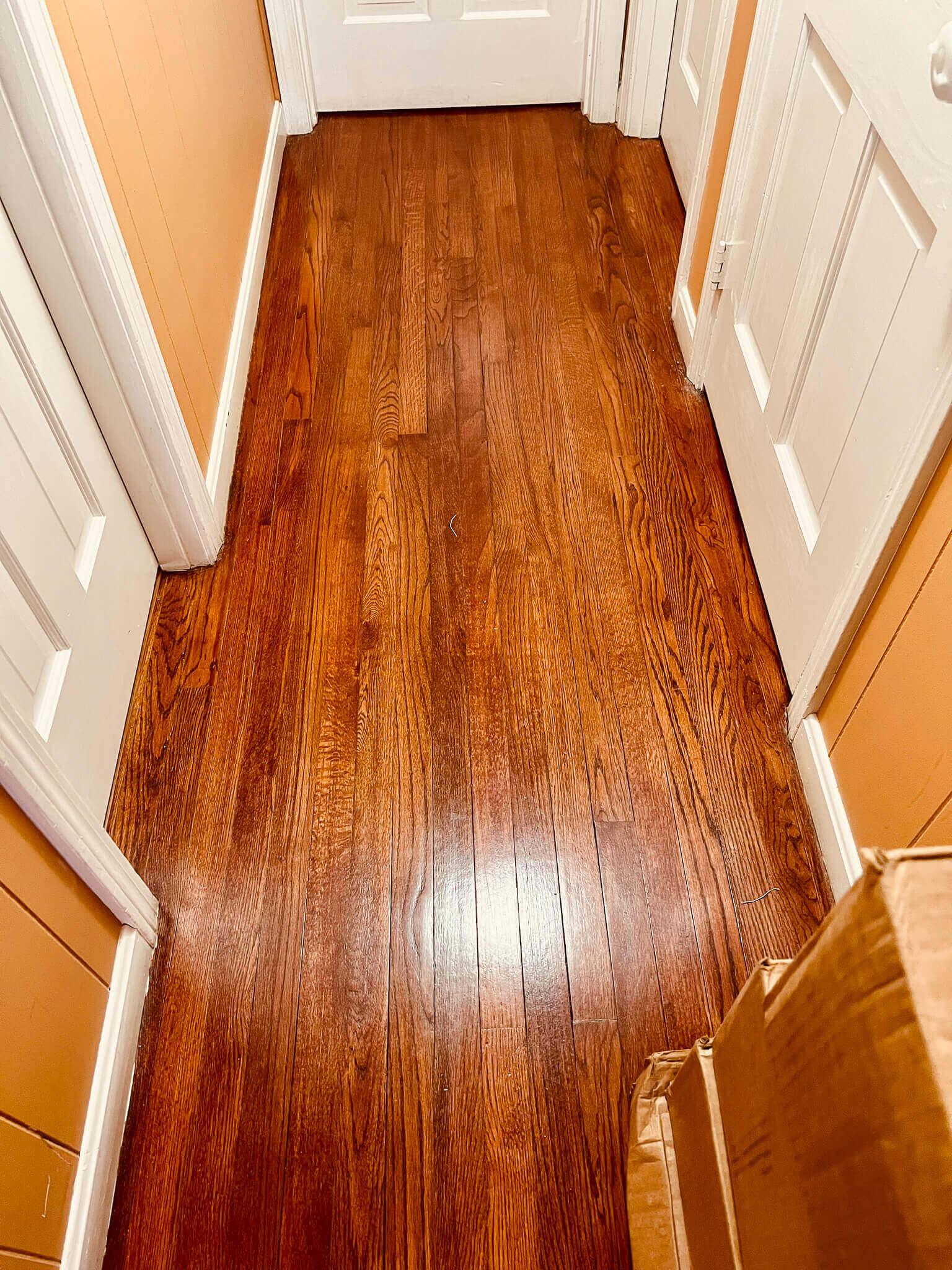 Clean floor with murphy's oil soap