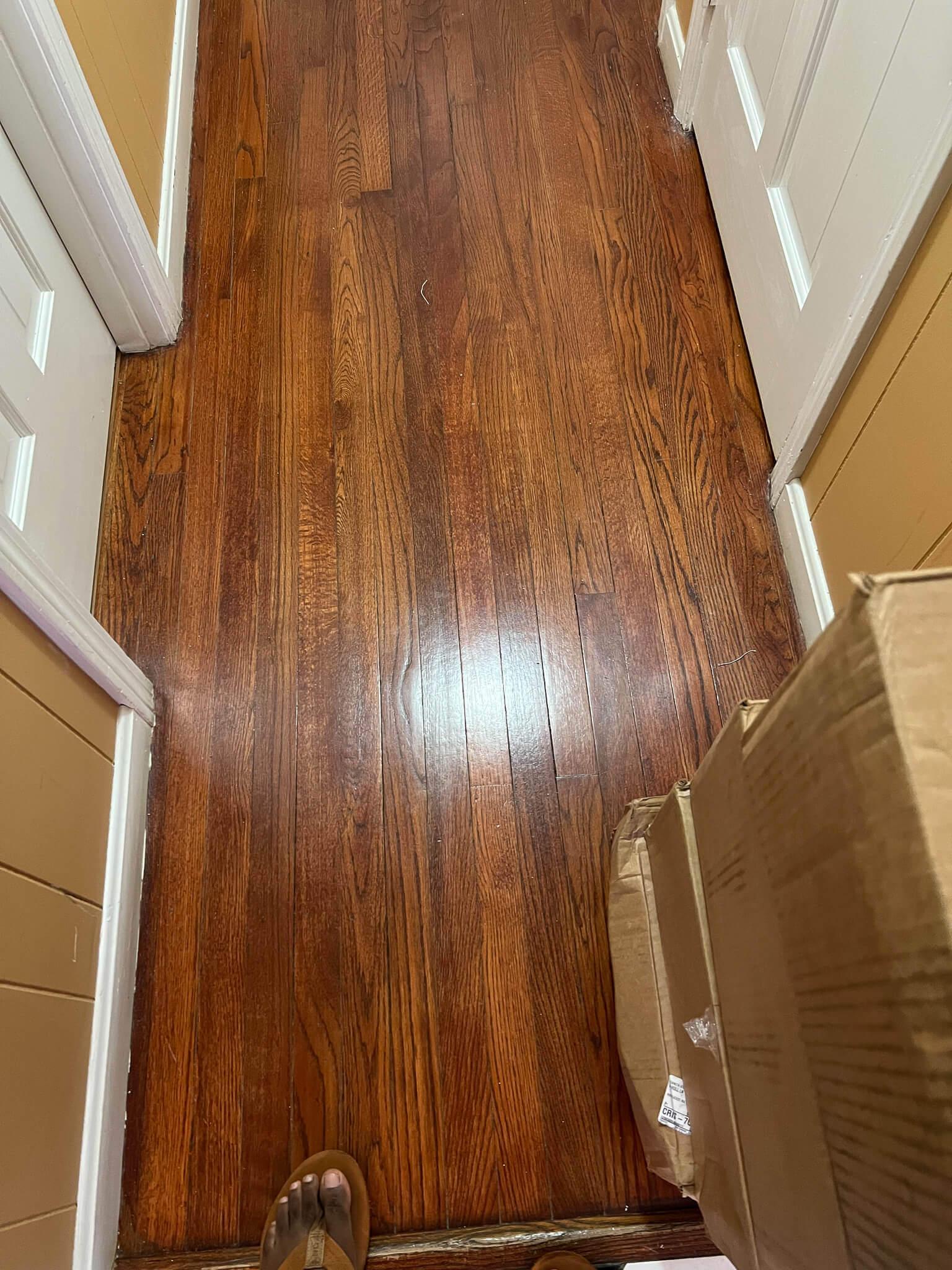 dull looking hardwood floor