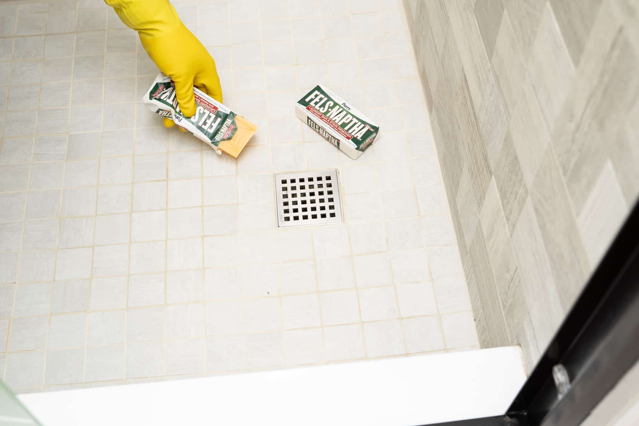 fels naptha soap cleaning grout joints