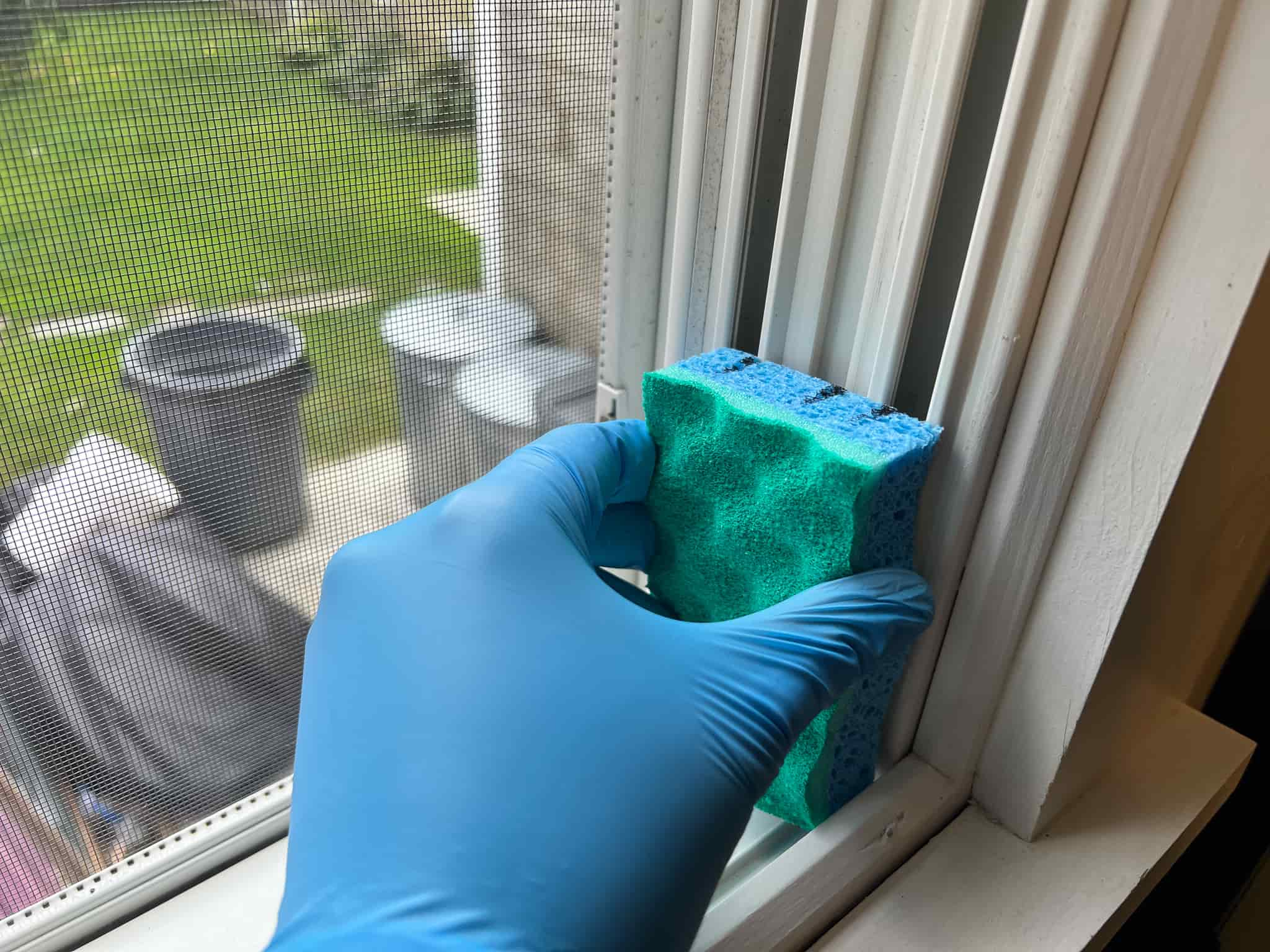making a window track diy cleaning tool