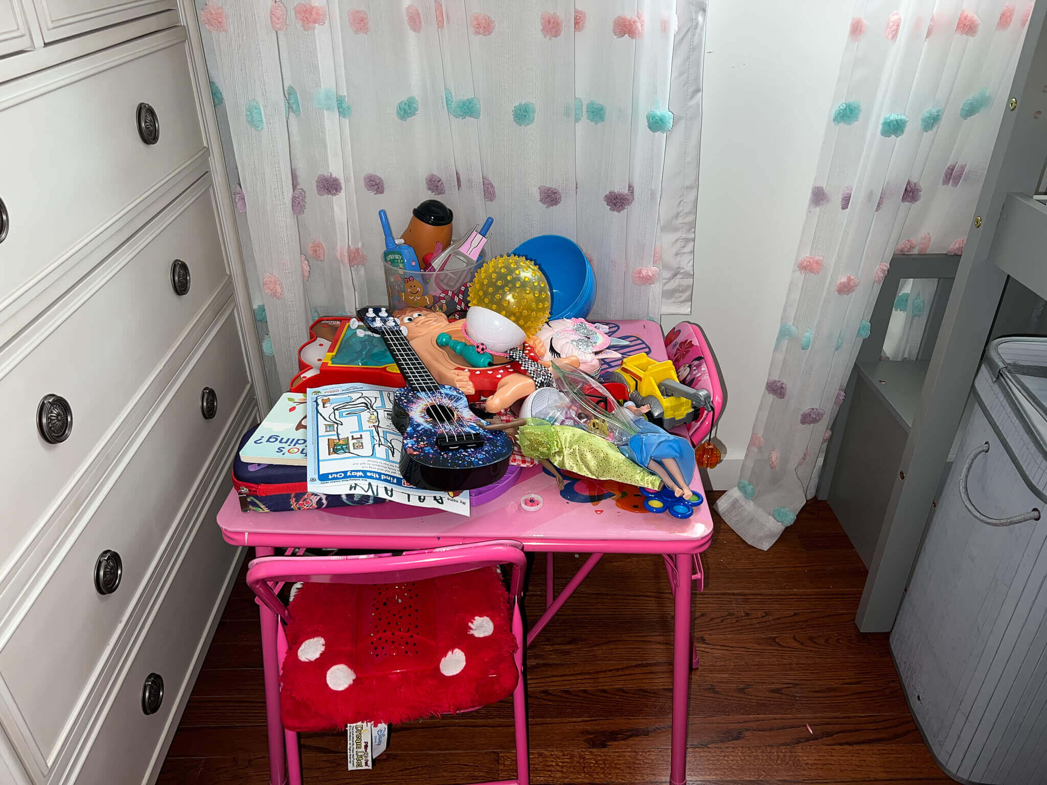 messy toys in room